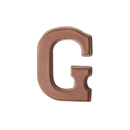 Choc Affair Milk Chocolate Letter G