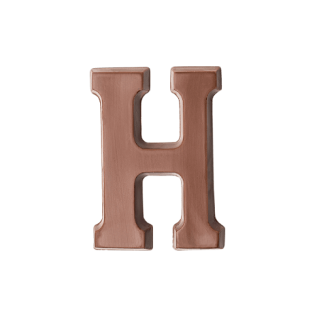 Choc Affair Milk Chocolate Letter H