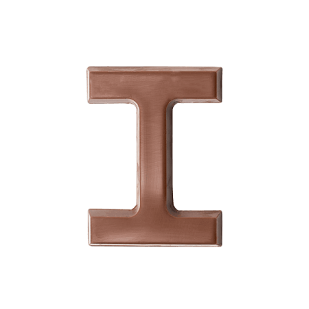 Choc Affair Milk Chocolate Letter I