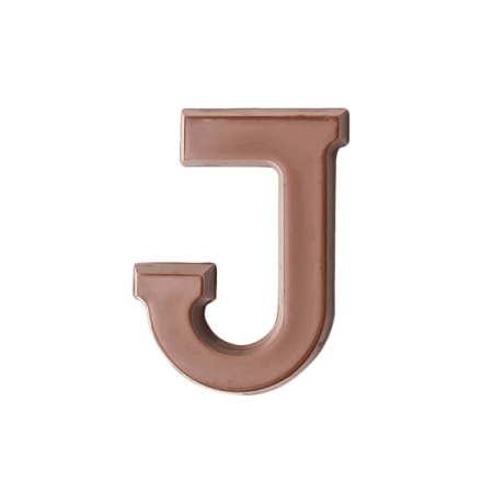 Choc Affair Milk Chocolate Letter J