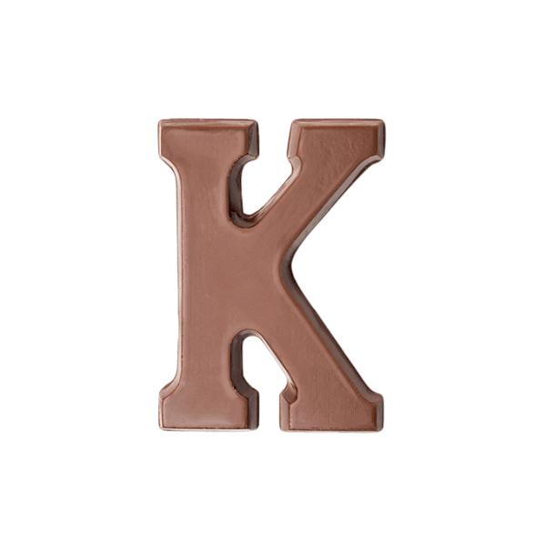 Choc Affair Milk Chocolate Letter K