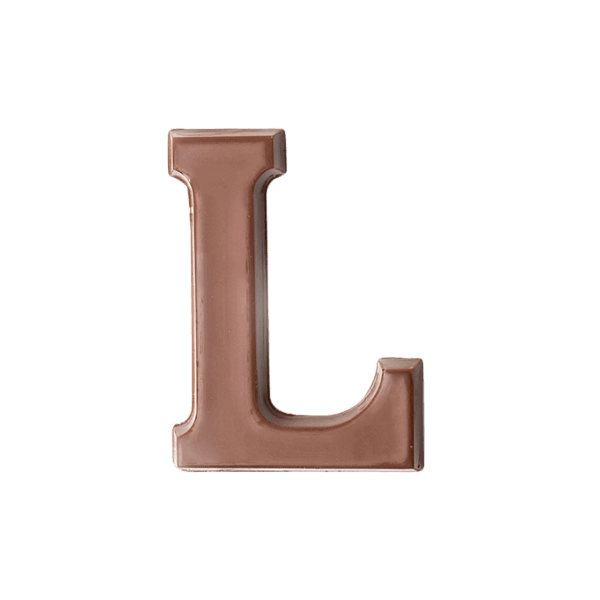 Choc Affair Milk Chocolate Letter L
