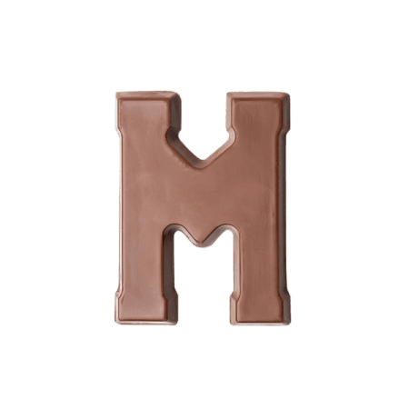 Choc Affair Milk Chocolate Letter M