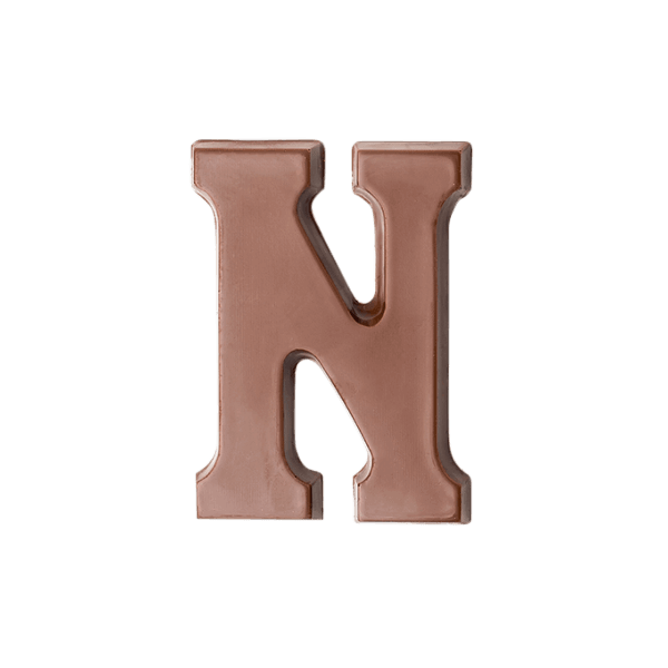 Choc Affair Milk Chocolate Letter N