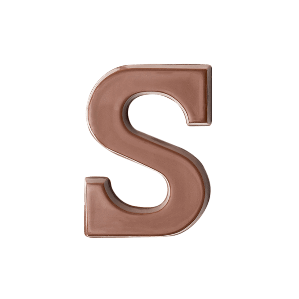 Choc Affair Milk Chocolate Letter S