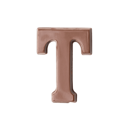 Choc Affair Milk Chocolate Letter T