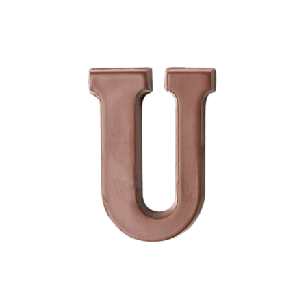 Choc Affair Milk Chocolate Letter U