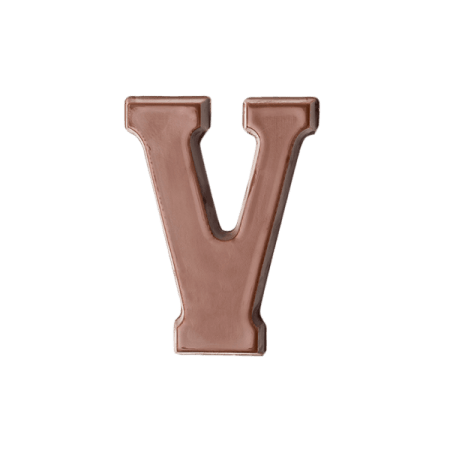 Choc Affair Milk Chocolate Letter V