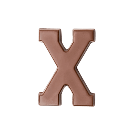 Choc Affair Milk Chocolate Letter X