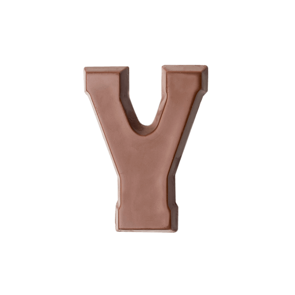 Choc Affair Milk Chocolate Letter Y