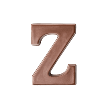 Choc Affair Milk Chocolate Letter Z