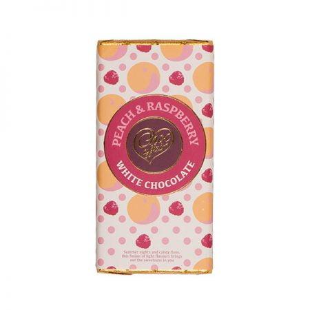 Peach & Raspberry White Chocolate Bar