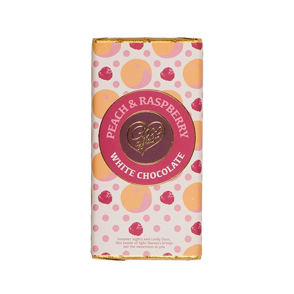 Peach & Raspberry White Chocolate Bar