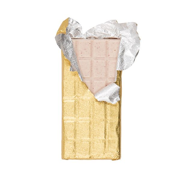 peach raspberry white chocolate bar foil