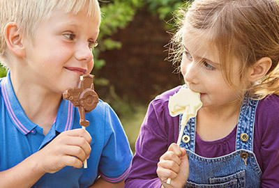 Children Eating Chocolate