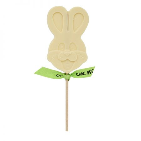 white chocolate rabbit lolly