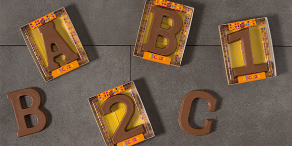 Milk Chocolate Letters And Numbers