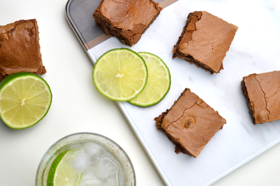 Gin & Tonic Brownie Recipe