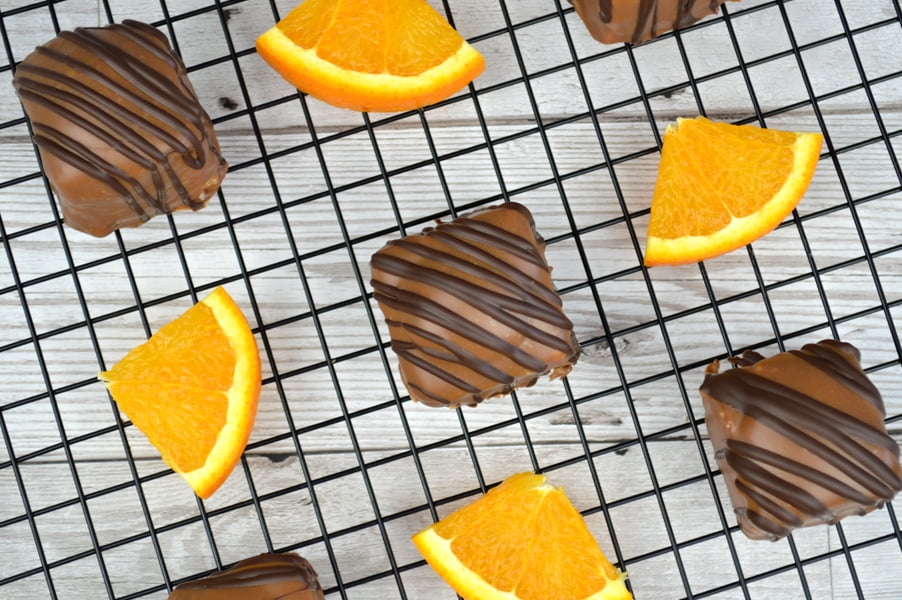 Orange & Geranium Chocolate Fondant Fancies Recipe