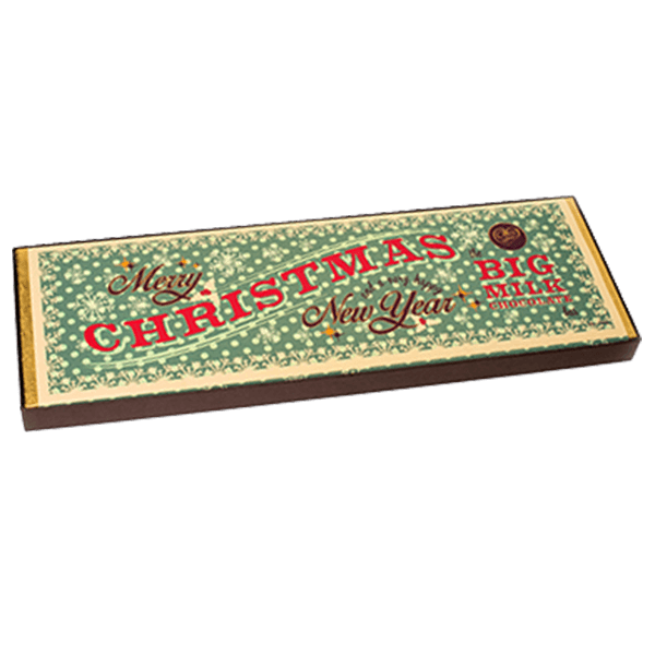 Christmas Giant Milk Chocolate Bar Green