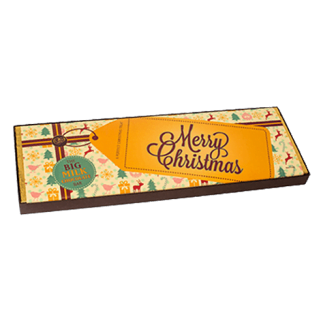 Christmas Giant Milk Chocolate Bar Yellow