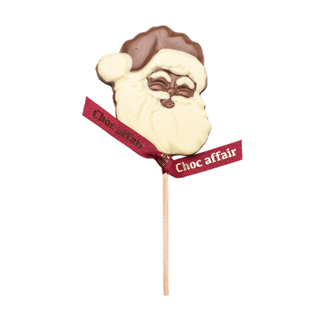 Christmas Milk And White Chocolate Santa Lolly