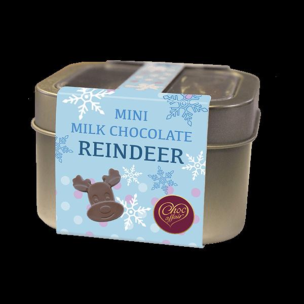 Christmas Milk Chocolate Reindeer Tin
