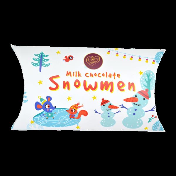 Christmas Milk Chocolate Snowmen Pillow Pack