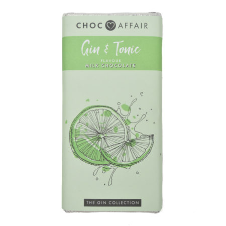 gin & tonic flavoured milk chocolate