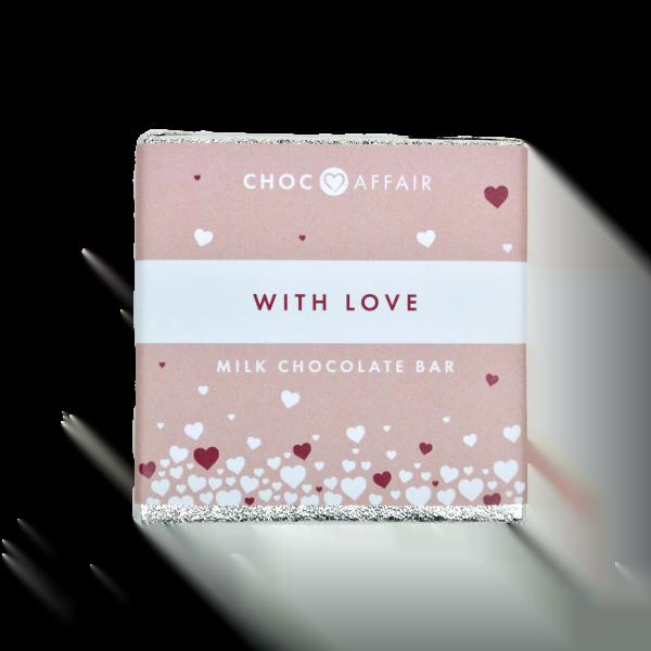with love milk chocolate bar