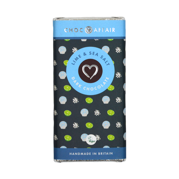 Lime & Sea Salt Dark Chocolate Bar