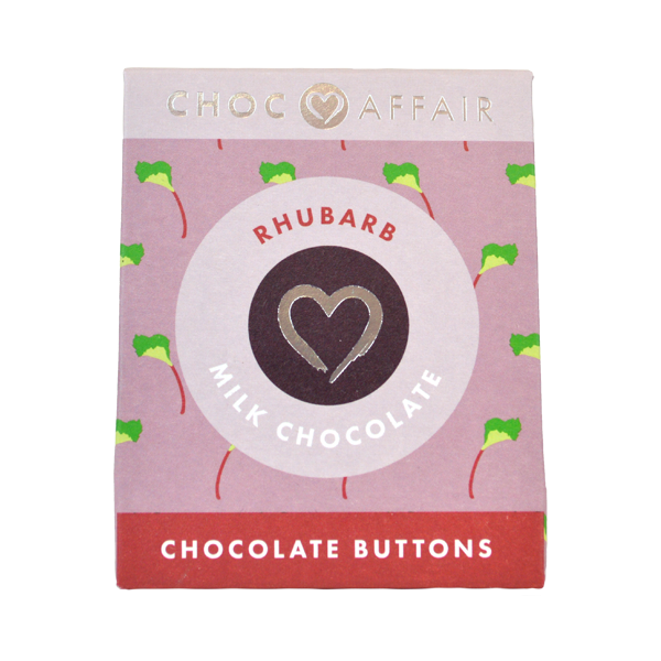 Rhubarb Milk Chocolate Buttons
