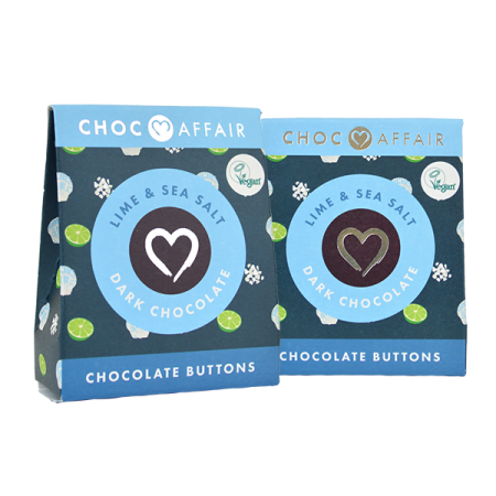 Lime & Sea Salt Dark Chocolate Buttons