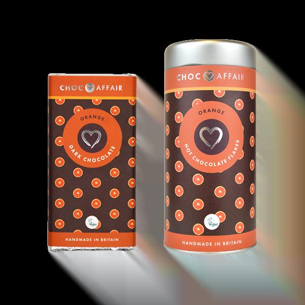 Orange Hot Chocolate & Bar Gift Set