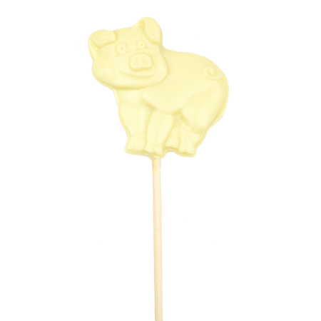 White Chocolate Pig Lolly
