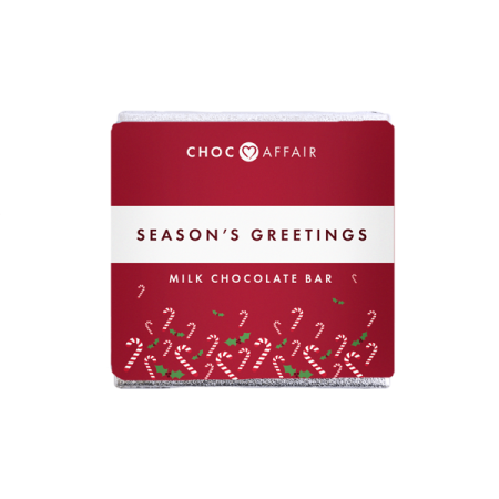 seasons greetings milk chocolate bar