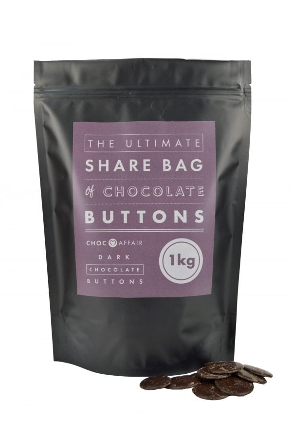 Ultimate Share bag of giant dark chocolate buttons