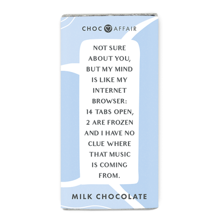 Milk Chocolate Message Bar with funny quote