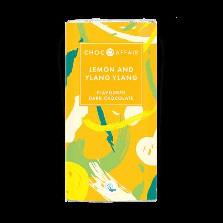 Lemon and ylang ylang flavoured dark chocolate bar product image