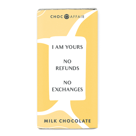 I am Yours Milk Chocolate Message Bar