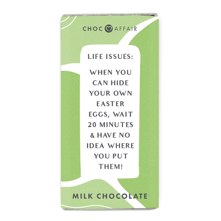 Easter Chocolate Message milk chocolate bar