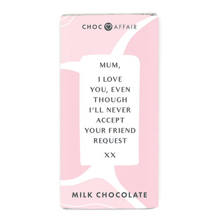 Mother's Day Chocolate message bar
