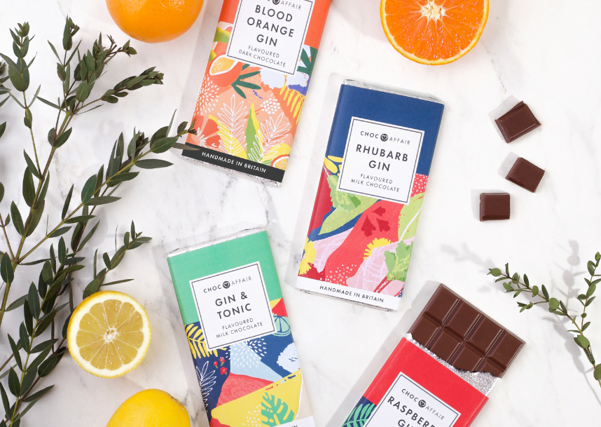 Gin-infused chocolate bars from Choc Affair