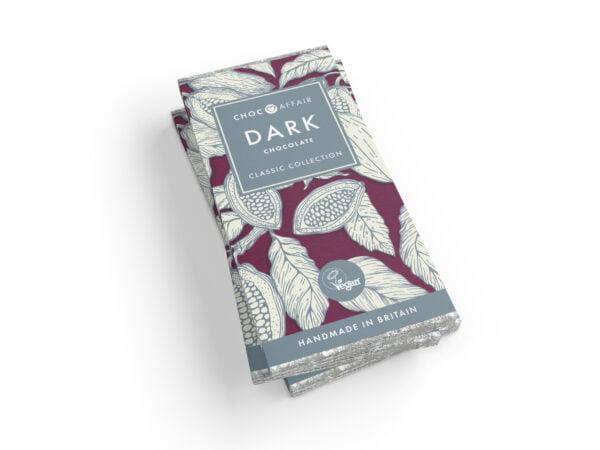 Classic dark chocolate bar - vegan registered, palm oil free.